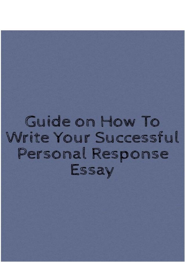 Personal response essays
