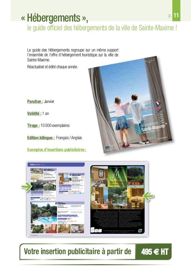 Guide des partenaires de l office de tourisme de sainte maxime - Office du tourisme saint maxime ...