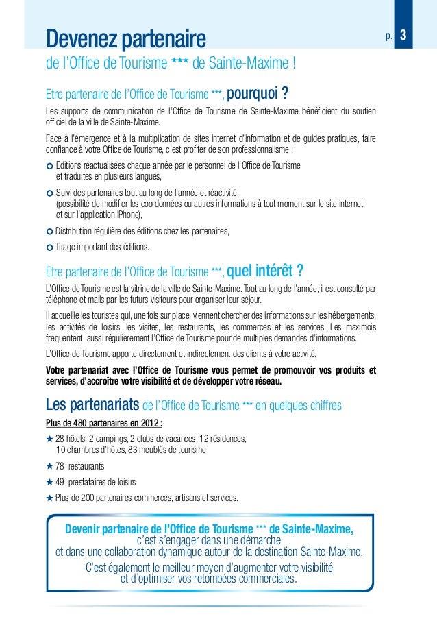 Guide des partenaires de l office de tourisme de sainte maxime - Office de tourisme saintes ...