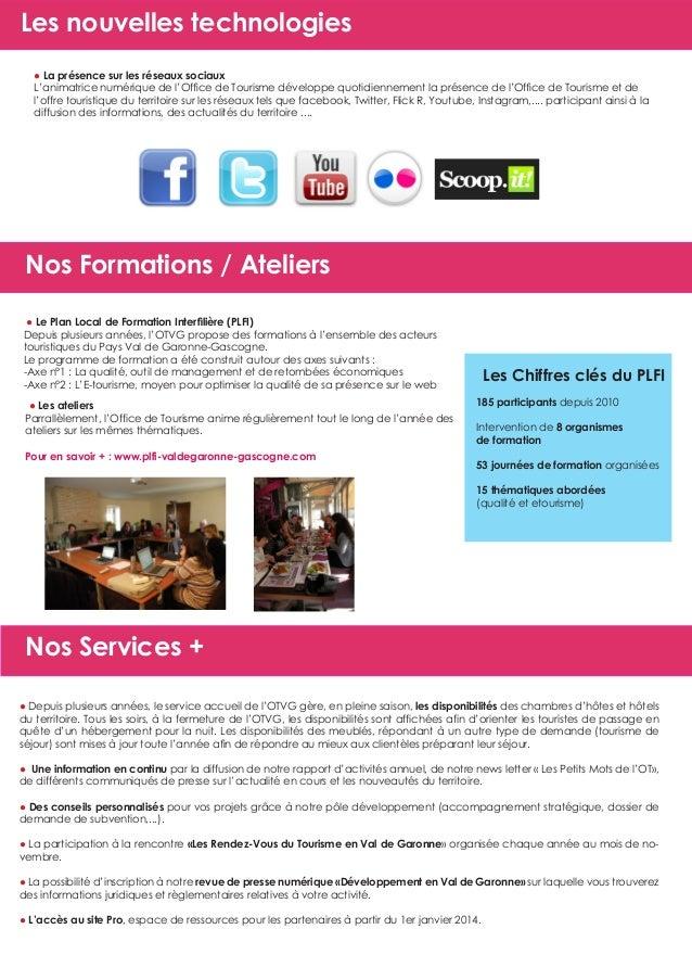 Guide du partenariat 2014 office de tourisme du val de garonne - Office de tourisme de marmande ...