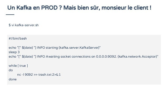 Architecture vue de loin Data delivery Kafka HDFS Processors / Analytics Sinks Kafka HDFS MongoDB Hive Cassandra Elasticse...