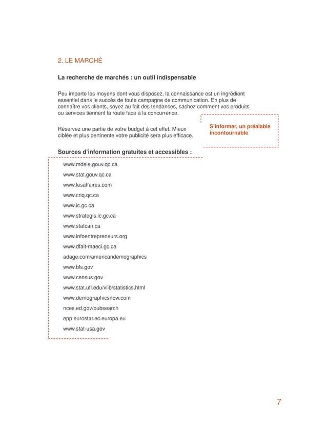 2. LE MARCHÉLa recherche de marchés : un outil indispensablePeu importe les moyens dont vous disposez, la connaissance est...