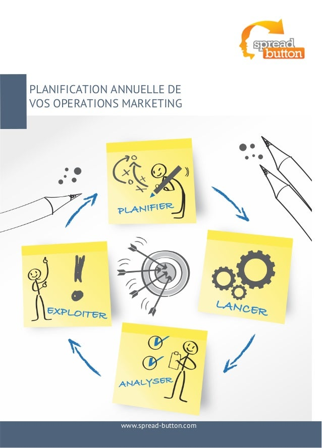 PLANIFICATION ANNUELLE DE  VOS OPERATIONS MARKETING  www.spread-button.com