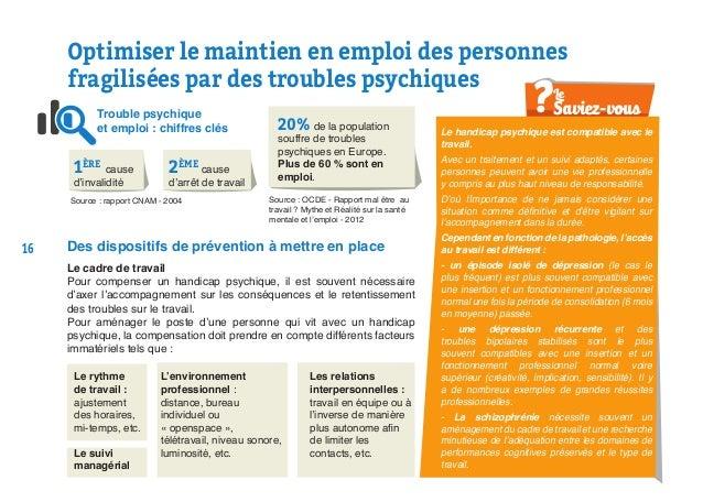 Le handicap psychique est compatible avec le travail. Avec un traitement et un suivi adaptés, certaines personnes peuvent ...