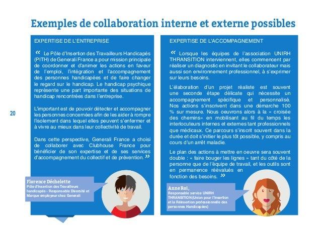 20 Exemples de collaboration interne et externe possibles EXPERTISE DE L'ENTREPRISE « Le Pôle d'Insertion des Travailleurs...