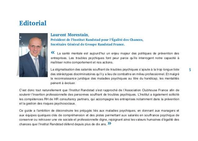 Laurent Morestain, Président de l'Institut Randstad pour l'Égalité des Chances, Secrétaire Général de Groupe Randstad Fran...