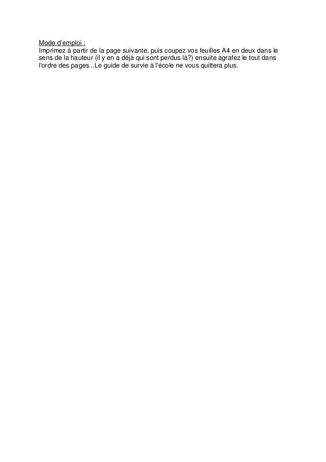 Mode d'emploi : Imprimez à partir de la page suivante, puis coupez vos feuilles A4 en deux dans le sens de la hauteur (il ...