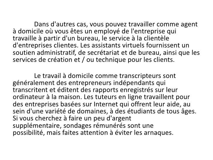 Guide Pour Trouver Du Travail A Domicile