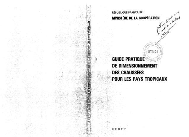 Guide pratique de dimentionnement des chaussées pour les pays tropicaux