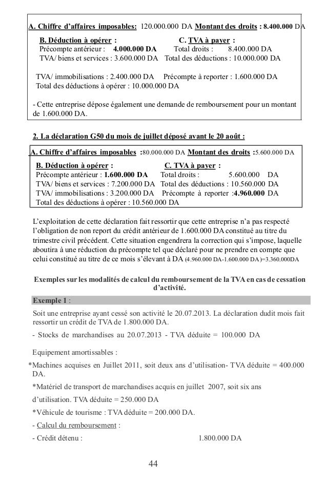 Guide pratique de la tva edition 2016 - Attestation tva 5 5 ...