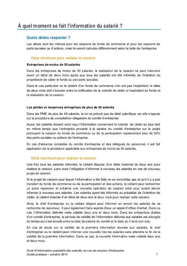 Guide Pratique D Information Des Salaries Et Des Entreprises
