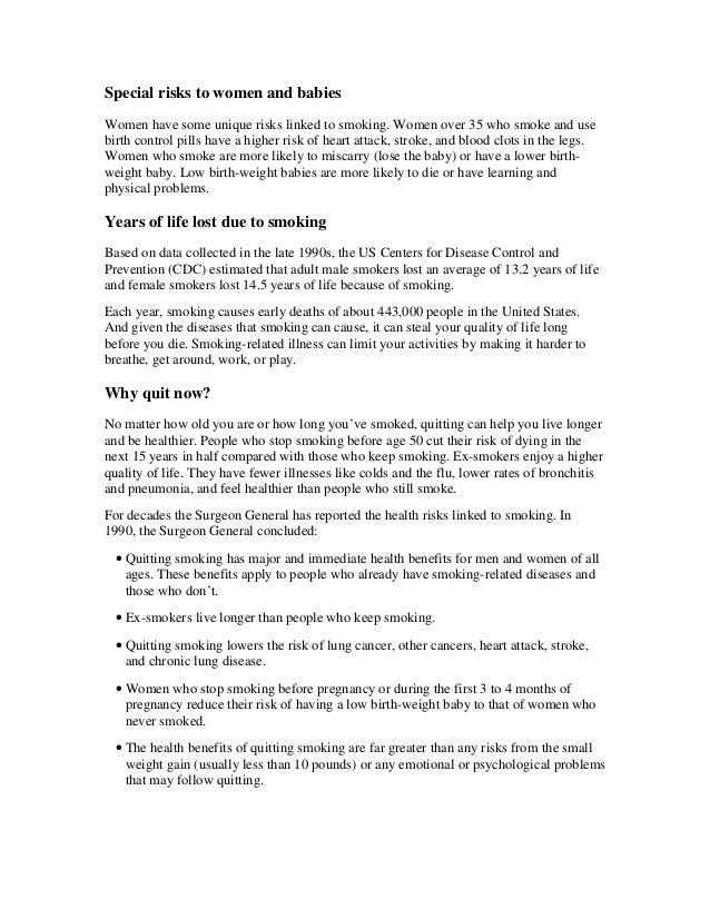Guide quit smoking