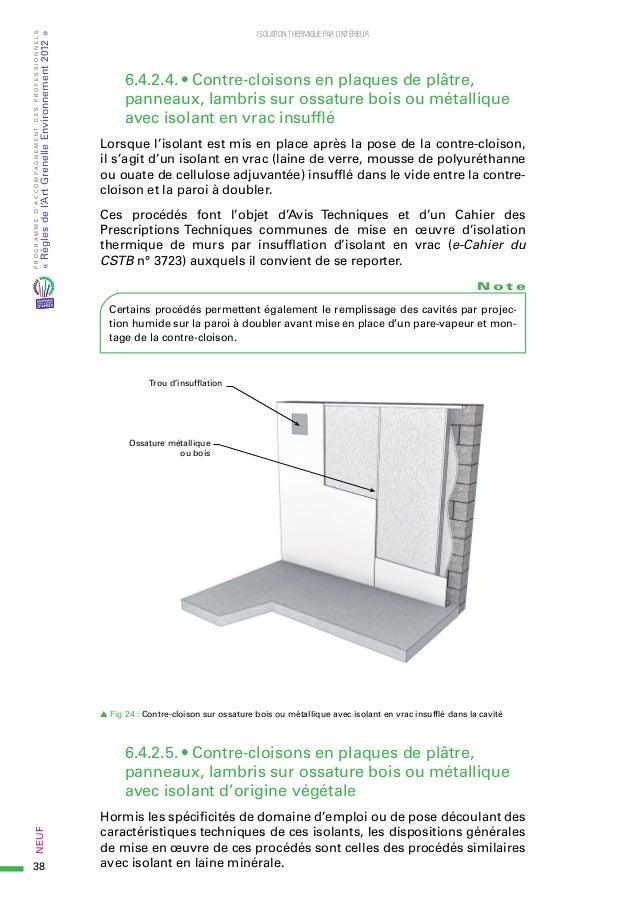 plaque de platre avec isolant polystyrene complexe de. Black Bedroom Furniture Sets. Home Design Ideas