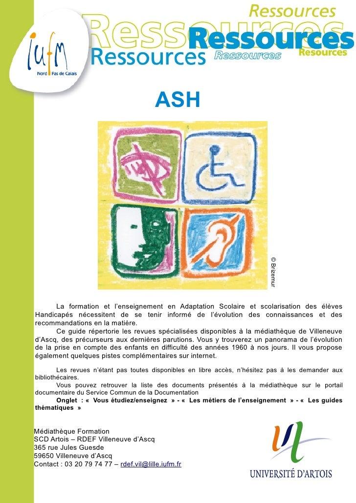 ASH                                                                            © Brizemur      La formation et l'enseignem...