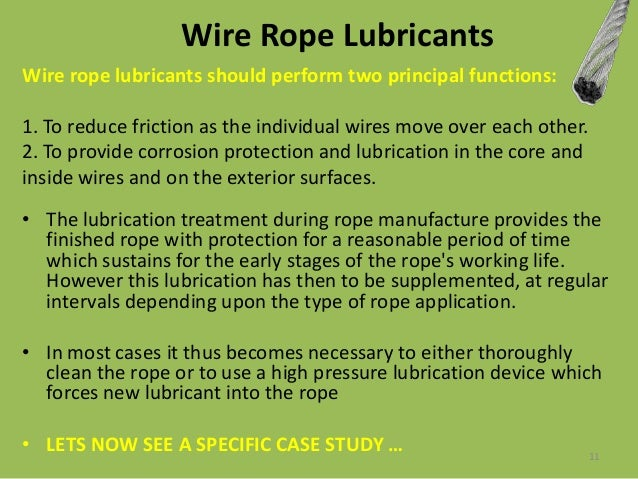 Enchanting Wire Rope Lubricants Applications Pictures - Electrical ...