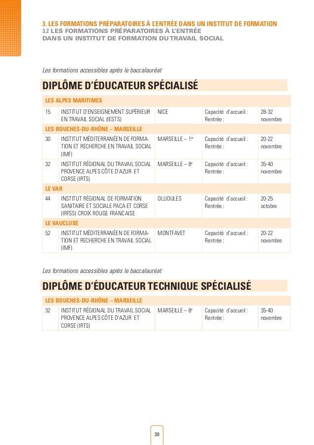 Guide des formations et des aides individuelles r gionales - Educateur technique specialise cuisine ...
