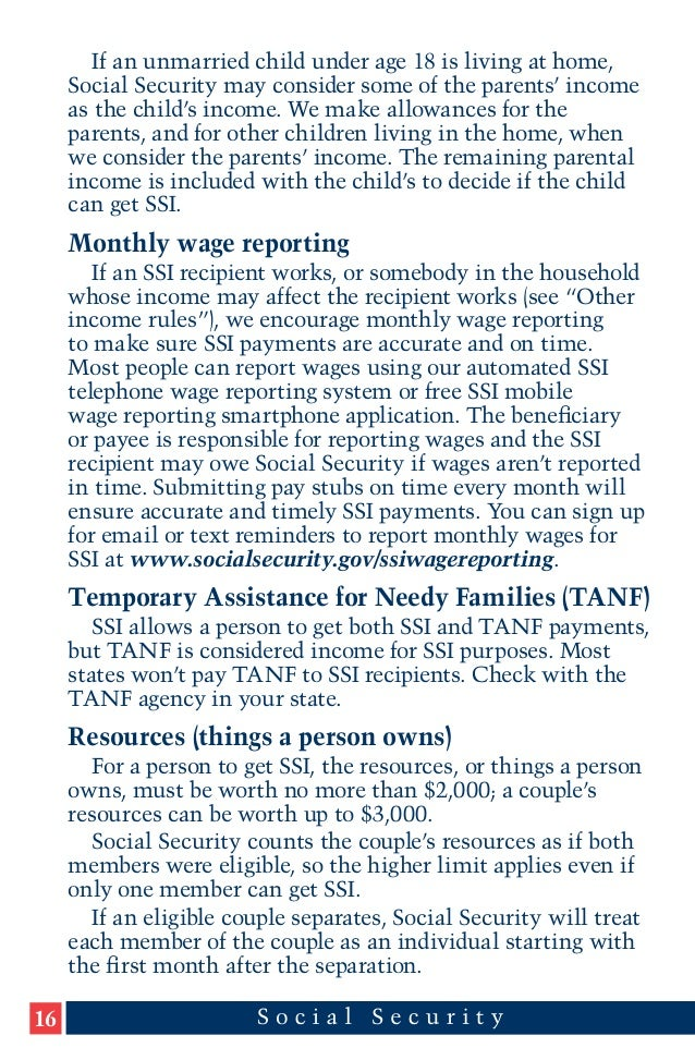 A Guide to Supplemental Security Income (SSI) for Groups and