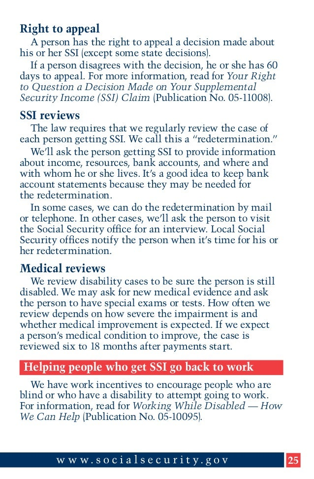 A Guide to Supplemental Security In e SSI for Groups and Organiza…
