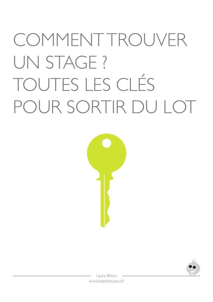 comment trouver un stage