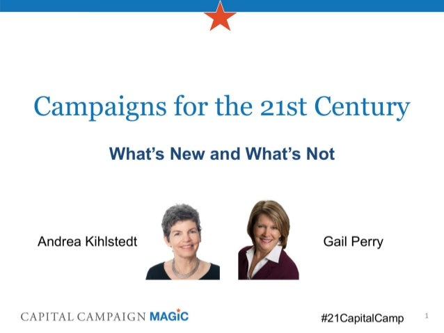 GuideStar Webinar (10/08/13) - Capital Campaigns for the 21st Century: What's New and What's Not