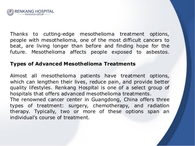 Guide to Advanced Mesothelioma Treatments  Care