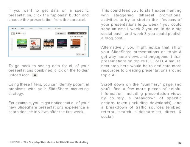 A Guide to SlideShare Analytics - Excerpts from Hubspot's Step by Step Guide to SlideShare Marketing Slide 3