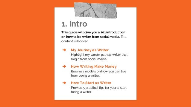 Practical Guide To Be Writer From Social Media Slide 3