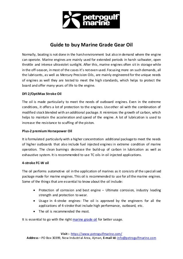 Guide To Buy Marine Grade Gear Oil