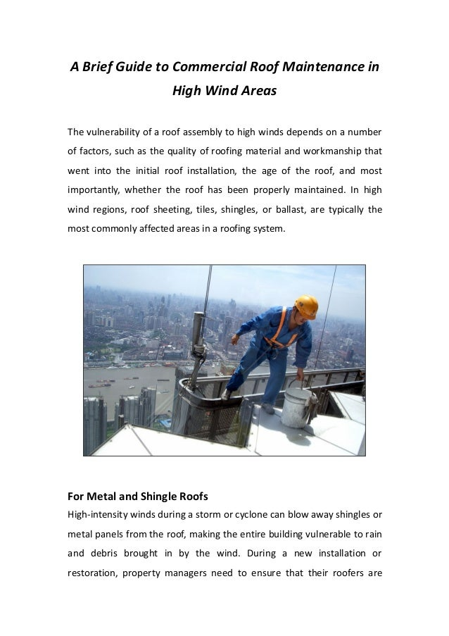 Guide to commercial roof maintenance by srg roofing - A brief guide to a durable roof ...