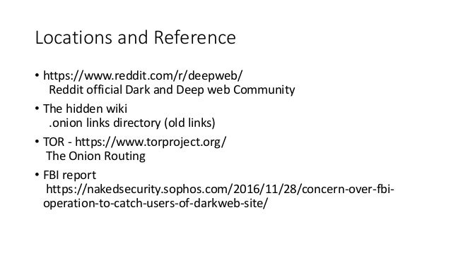 Guide to dark web