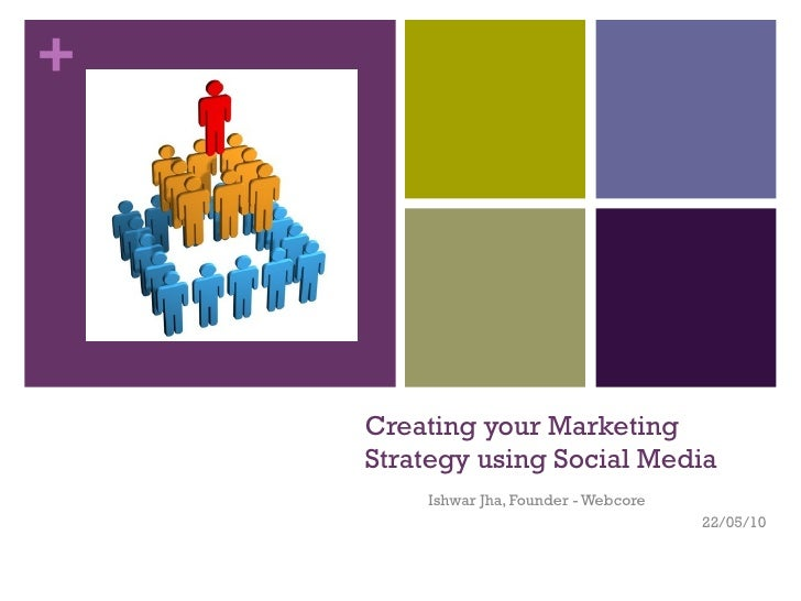 Creating your Marketing Strategy using Social Media Ishwar Jha, Founder - Webcore 22/05/10