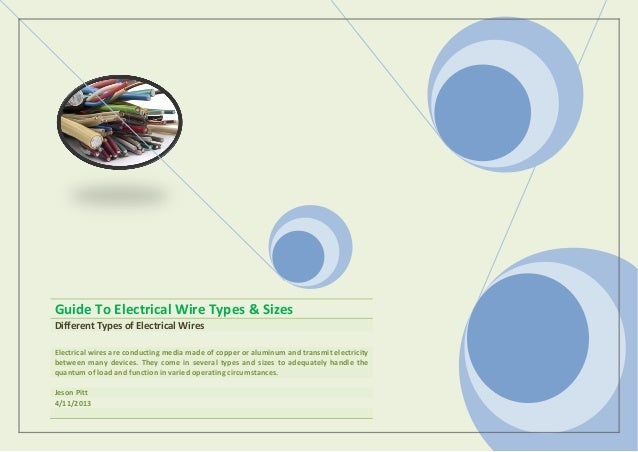 guide to electrical wire types \u0026 sizes