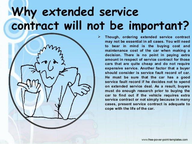 Guide To Extended Service Contract