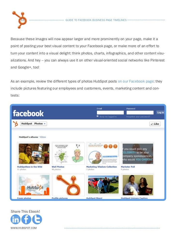 Guide to Facebook Business Page Timelines Facebook Page Timeline Example