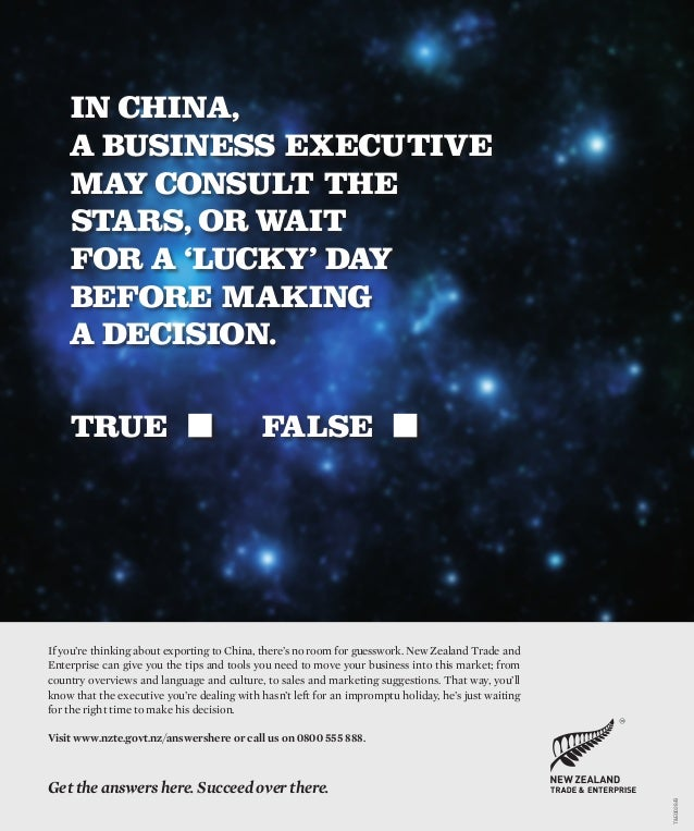 If you're thinking about exporting to China, there's no room for guesswork. New Zealand Trade andEnterprise can give you t...