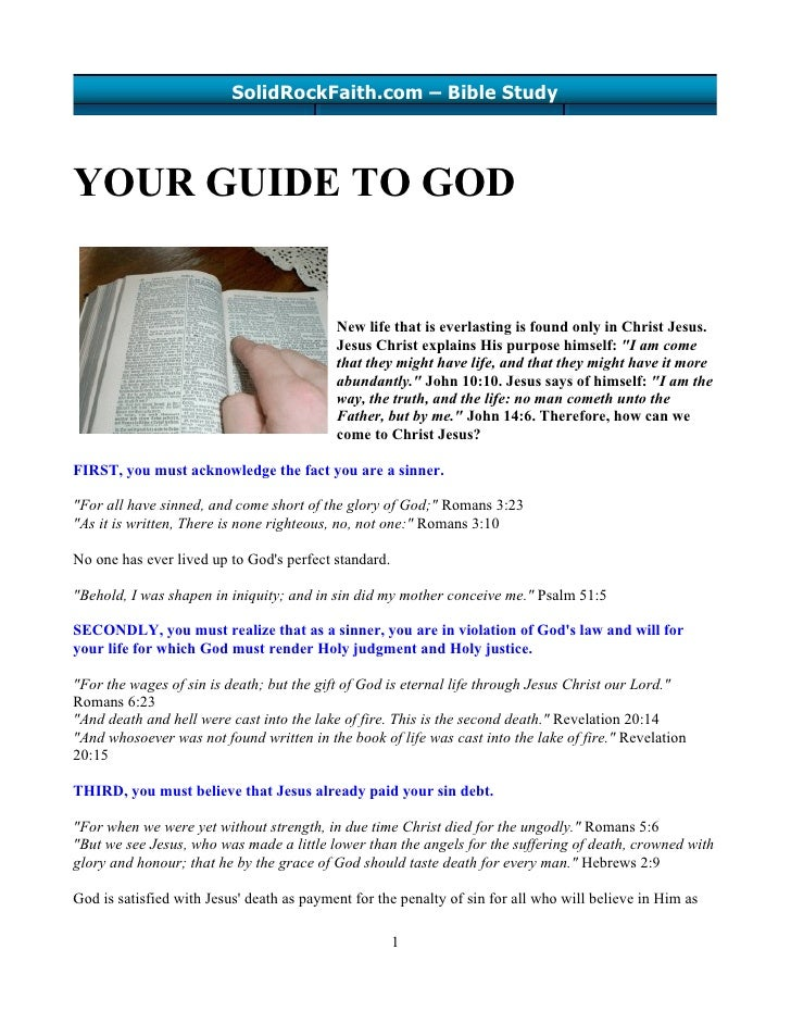SolidRockFaith.com – Bible Study     YOUR GUIDE TO GOD                                              New life that is everl...