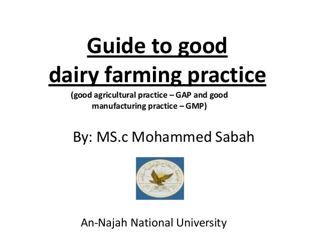 guide to good dairy farming practice rh slideshare net guide to good dairy farming practice pdf Image of Good Farming Practices in Maryland Us