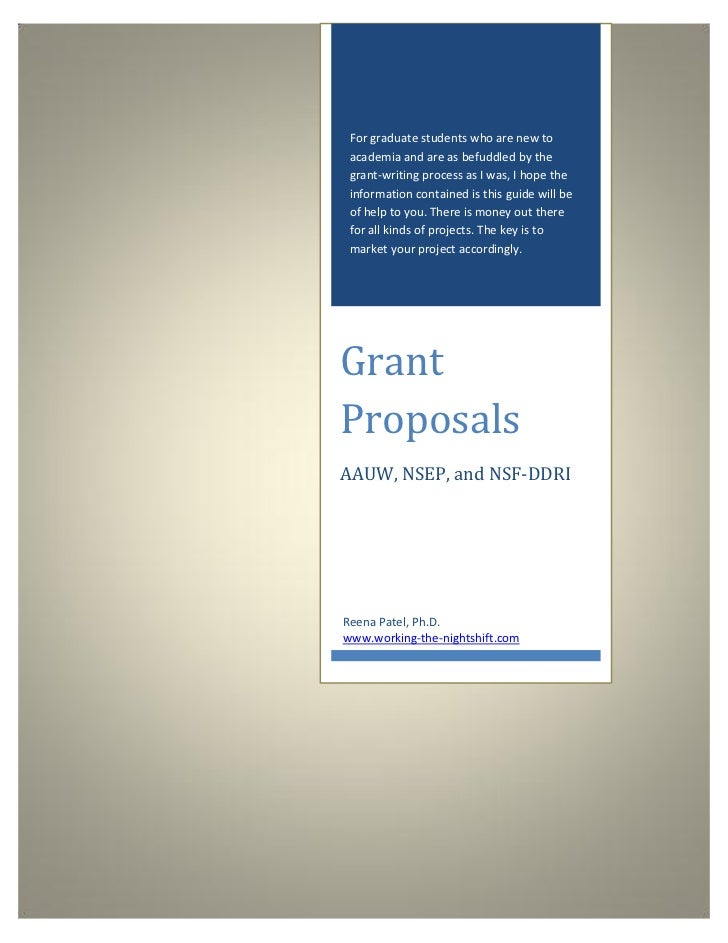 For graduate students who are new to academia and are as befuddled by the grant-writing process as I was, I hope the infor...