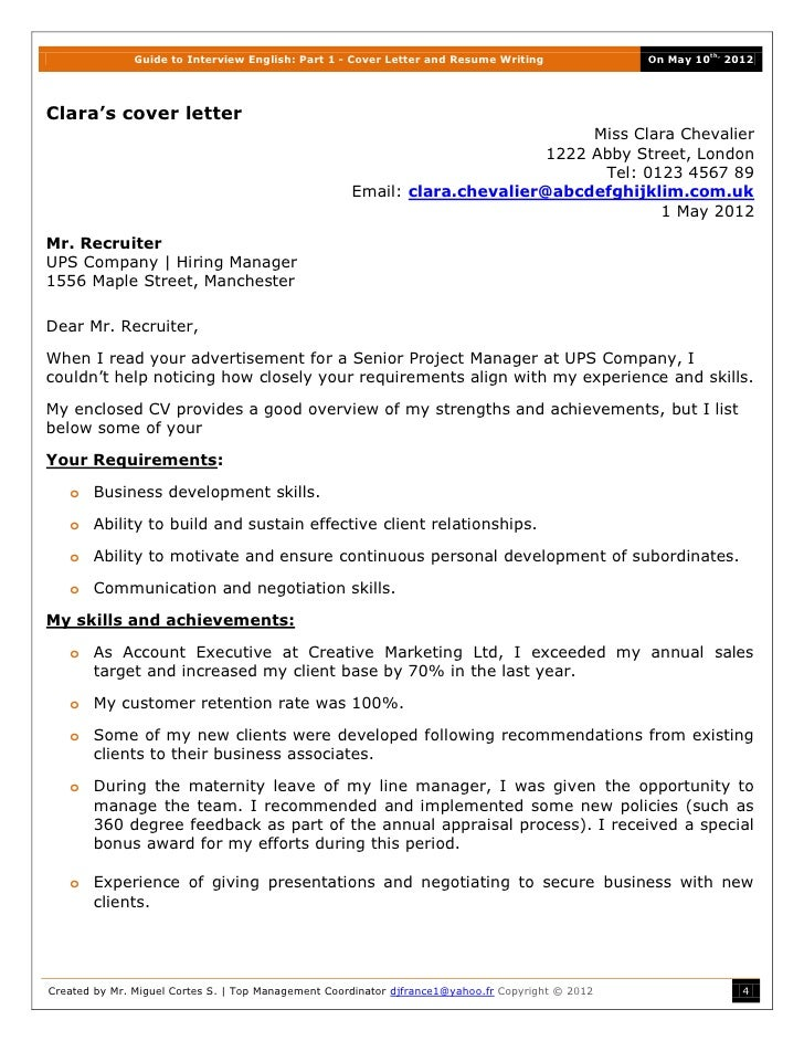 cover letter guide uk