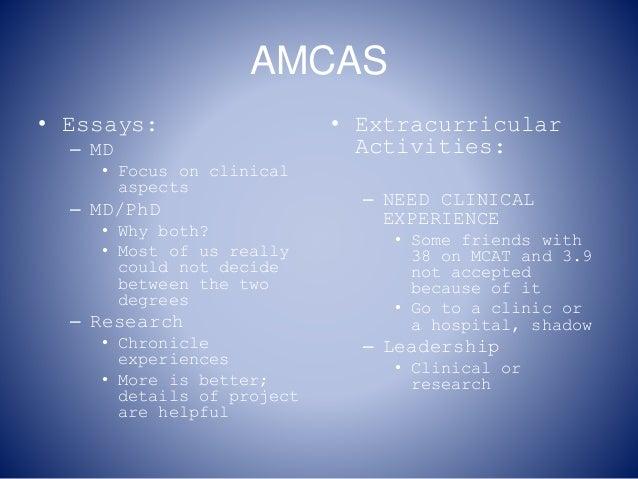 Amcas md phd essay