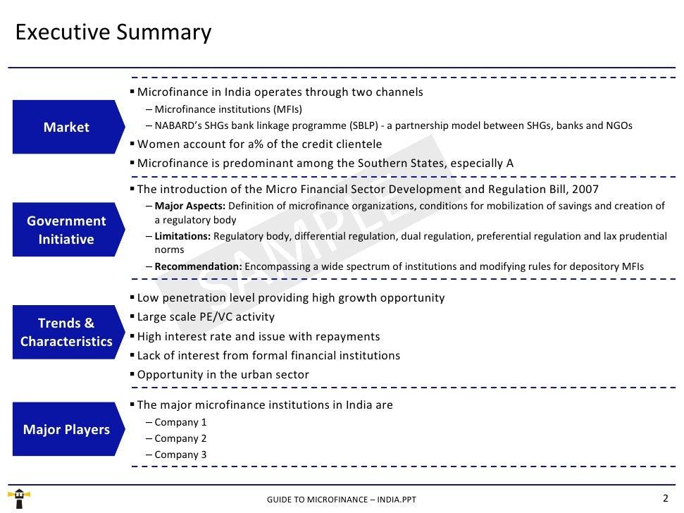 Guide To Microfinance - India - Sample Slide 2