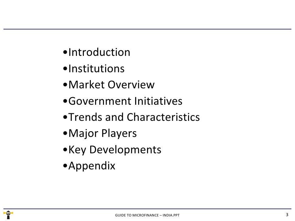 Guide To Microfinance - India - Sample Slide 3
