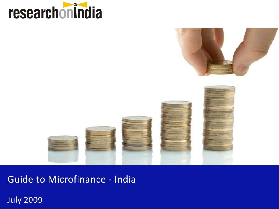 Guide to Microfinance - IndiaJuly 2009