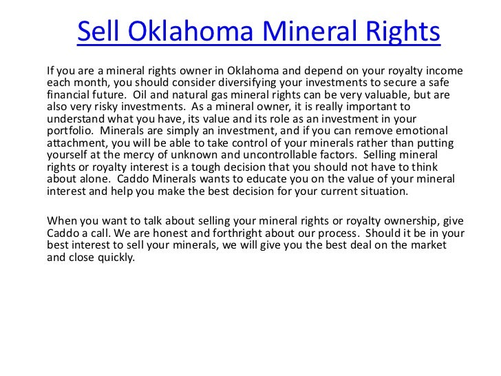 Sell Oklahoma Mineral RightsIf you are a mineral rights owner in Oklahoma and depend on your royalty incomeeach month, you...