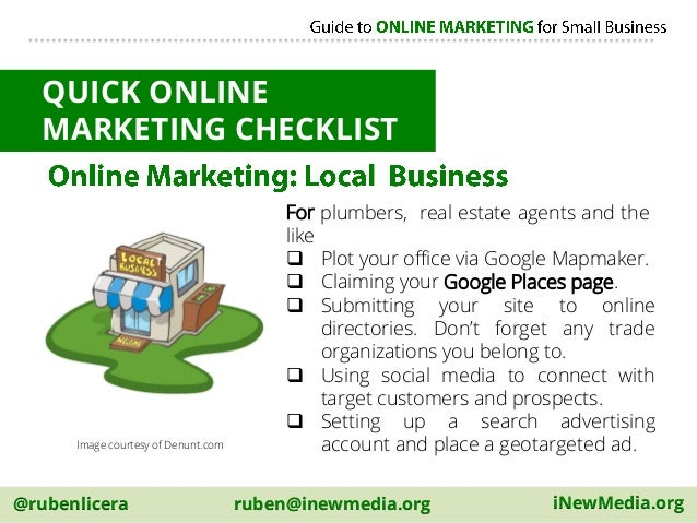 Internet marketing a guidebook to small