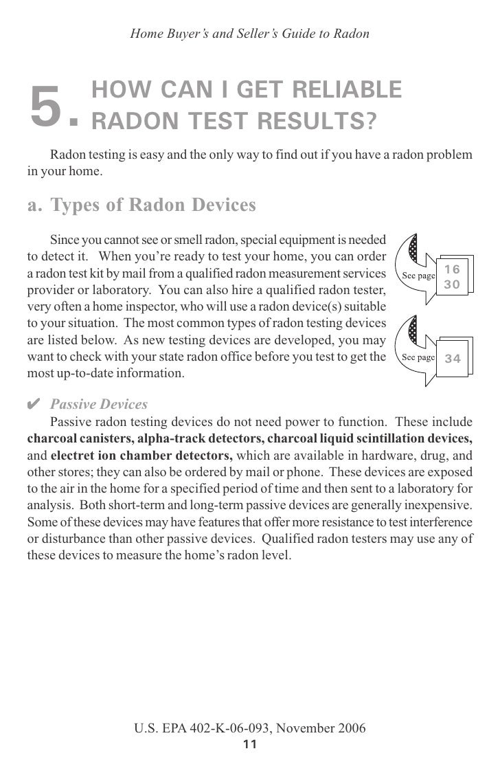 guide to radon in the home