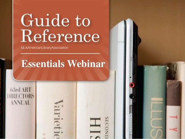 Essentials Webinar