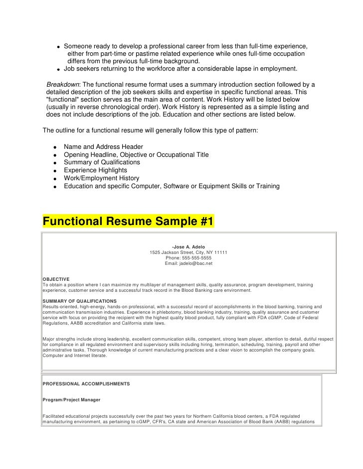 resume writing guidance