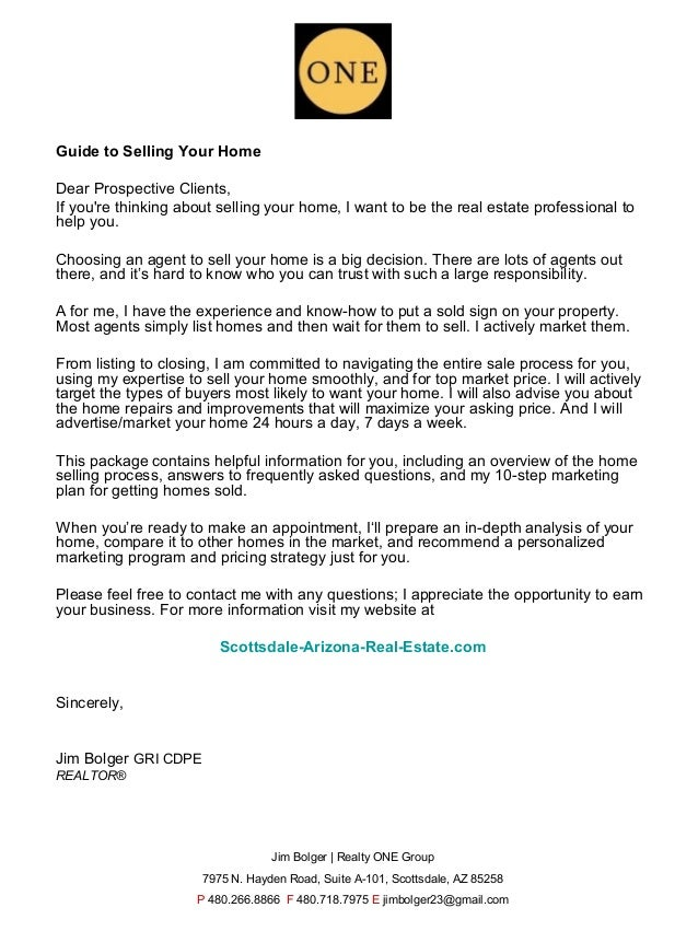 Guide to Selling Your HomeDear Prospective Clients,If youre thinking about selling your home, I want to be the real estate...