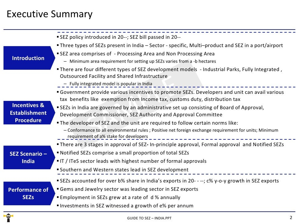 comparative study of sezs in india With this objective, cividep studies the effects of corporate activities on  communities and the  sezs in india and indonesia – a comparison / page 11.